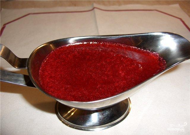 брусничный соус рецепт