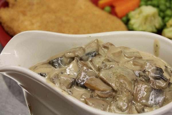 Сметанно-грибной соус